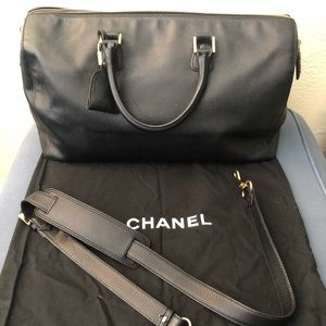 Vintage early 90s Chanel Duffle bag.